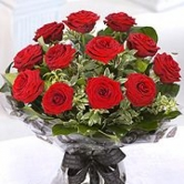 12 Luxury Red Roses -  in Vase