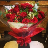 24 Luxury Red Roses - Hand-tied