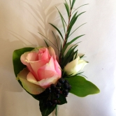 Buttonhole - PInk Rose