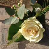 Buttonhole - White Rose
